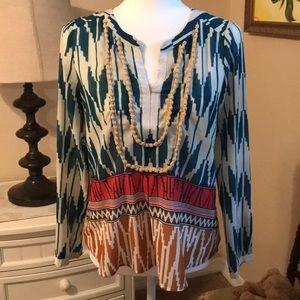 Anthropologie long sleeved blouse